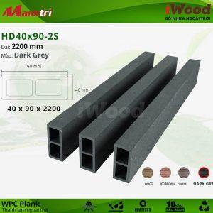 Thanh lam iWood HD 40x90 2S Darkgrey