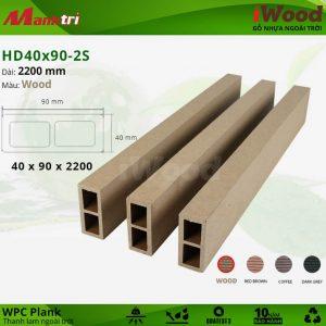 Thanh lam iWood HD 40 x 90 2S Wood
