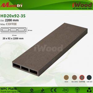 thanh lam iwood HD20x92-3S Coffee hình 1 sửa
