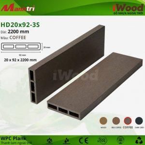 thanh lam iwood HD20x92-3S Coffee hình 2 sửa