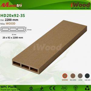 thanh lam iwood HD20x92-3S Wood hình 1