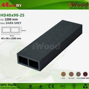 thanh lam iwood HD40x90-2S-Dark Grey hình 1 sửa
