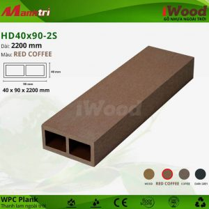 thanh lam iwood HD40x90-2S-Red Coffee hình 1 sua