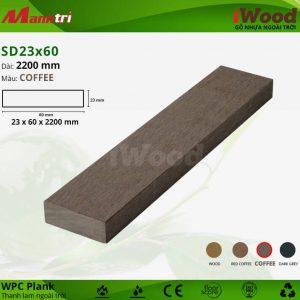 thanh lam iwood SD23x60-Coffee hình 1
