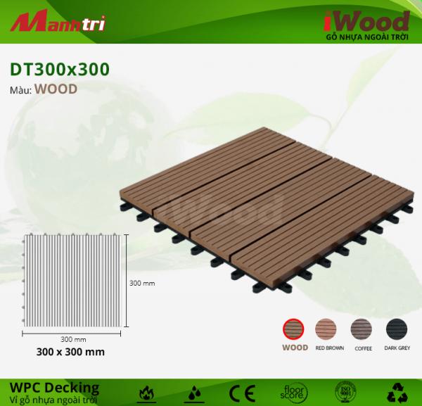 Vỉ gỗ lót sàn iWood DT300x300-Wood