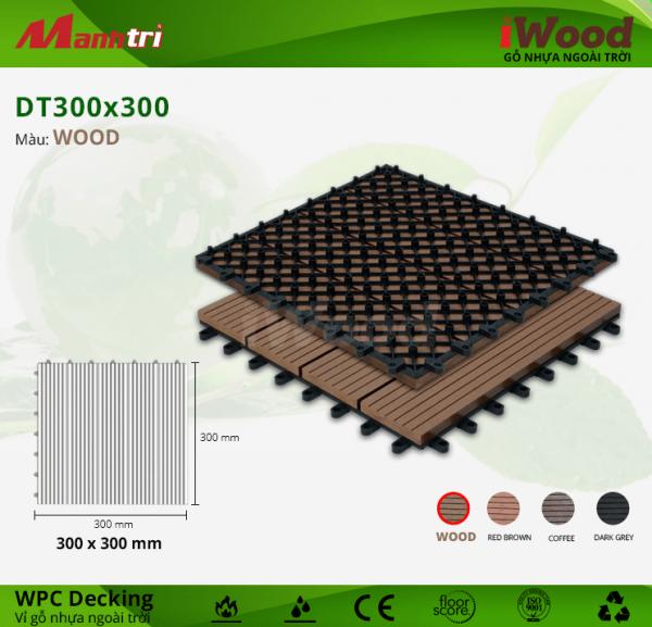 Vỉ gỗ nhựa DT 300 x 300 Wood b