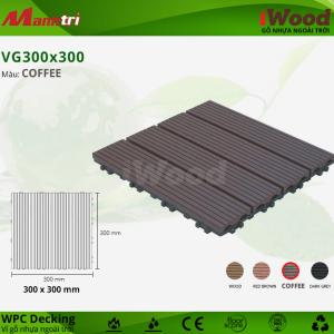Vỉ gỗ lót sàn iWood VG300x300-Coffee