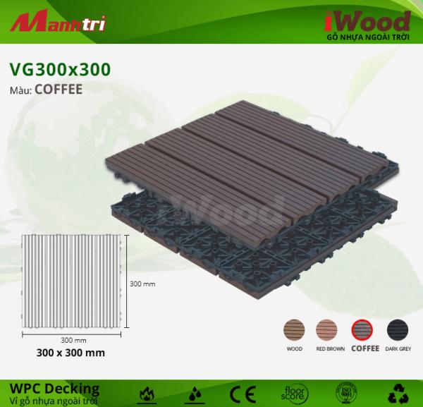 Vỉ gỗ nhựa WPC Decking 300 x 300