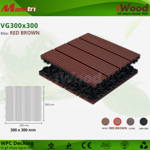 iWood VG 300 x 300 RedBrown