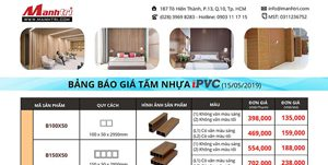 bảng giá lam cột iPVC