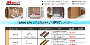bảng giá phụ kiện iPVC