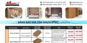 Bảng giá tấm ốp tường trần trong nhà iPVC