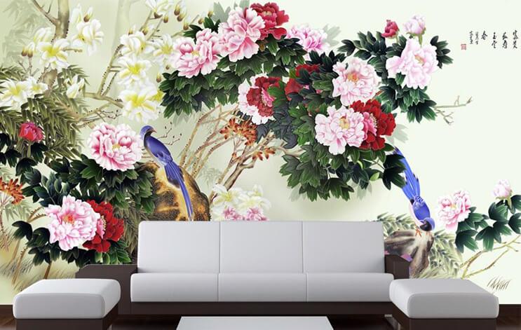 gạch 3D ốp tường phòng khách hình 14