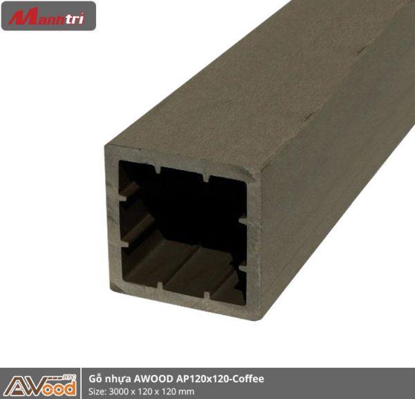 gỗ nhựa Awood AP120x120-coffee hình 1