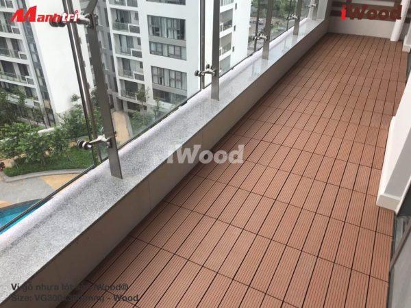 Vỉ gỗ nhựa lót sàn hình 9