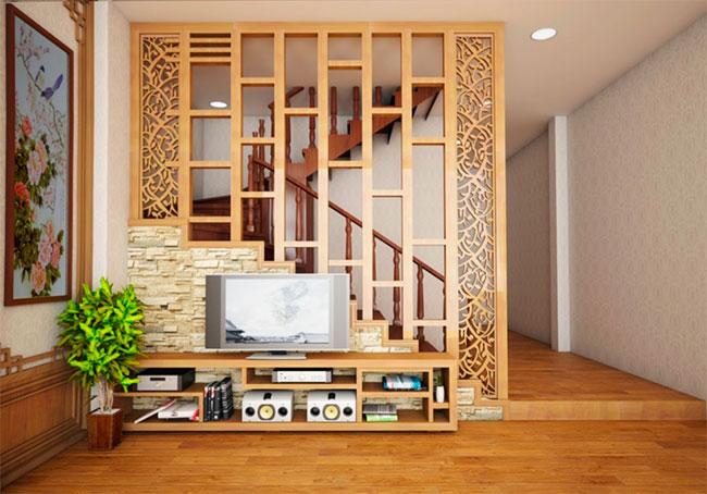 Lam gỗ trang trí phòng khách
