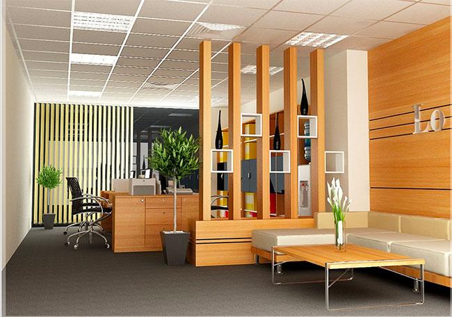 Lam gỗ trang trí văn phòng