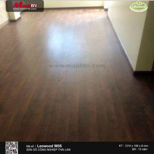 Sàn gỗ Leowood W05 sau khi lắp đặt
