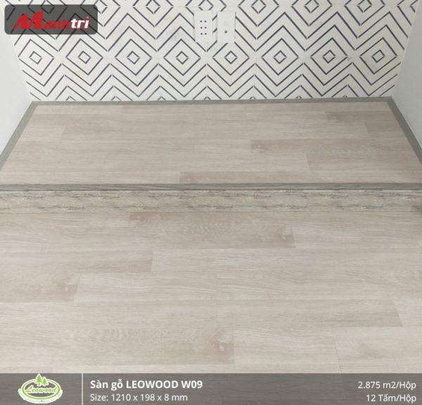thi công sàn gỗ Leowood W09