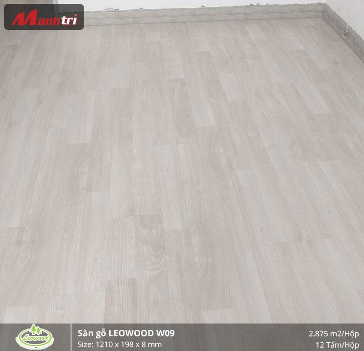 thi công sàn gỗ Leowood W09 1