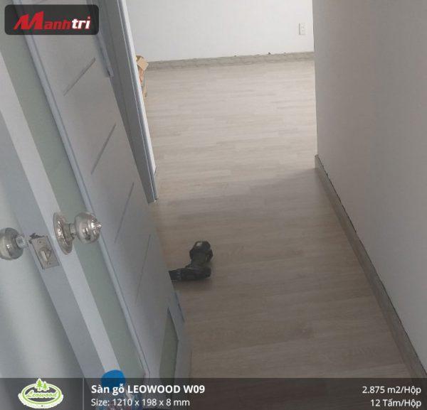 thi công sàn gỗ Leowood W09 4