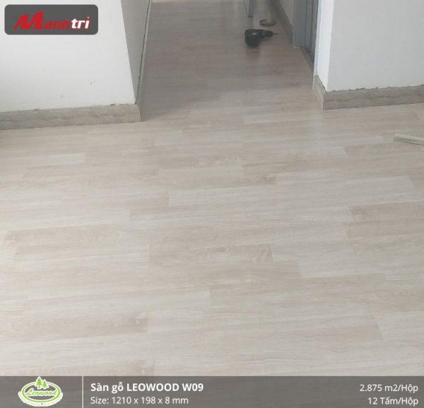 thi công sàn gỗ Leowood W09 5