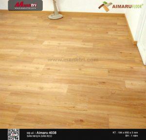 thi công sàn nhựa aimaru 4038 g