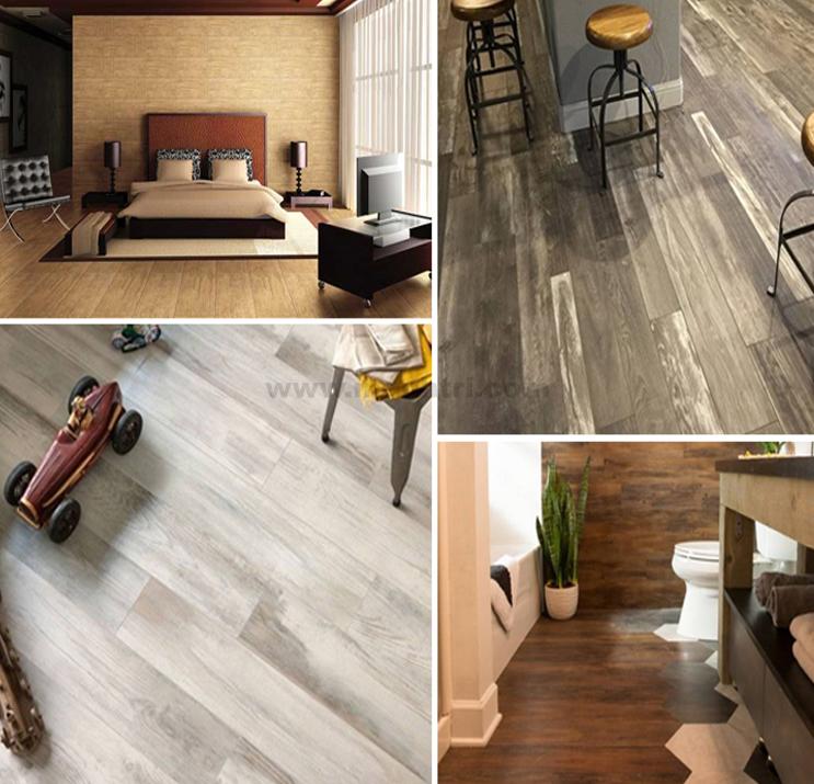 Sự đa dạng trong không gian lắp đặt của sàn nhựa vân gỗ.