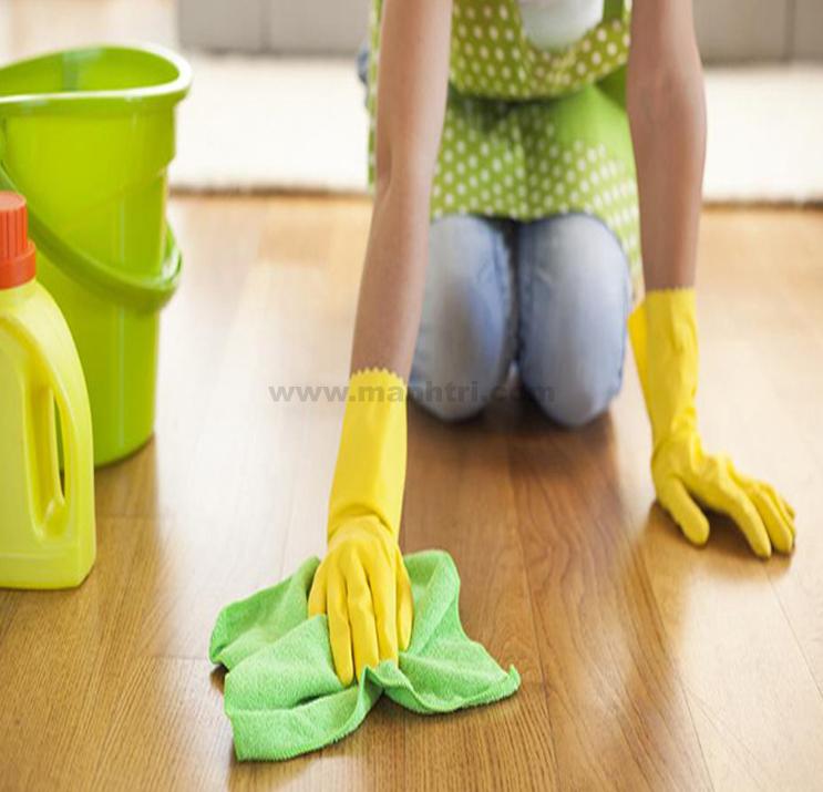Sàn nhựa giả gỗ dễ dàng vệ sinh, lau chùi trong quá trình sử dụng.