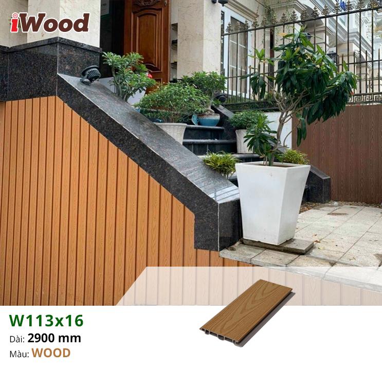 Hình ảnh sản phẩm tấm ốp W116x13 màu wood