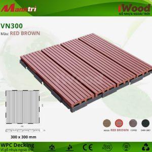 vỉ gỗ nhựa VN300-Red brown