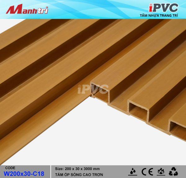 tấm nhựa iPVC W200 x 30 C18