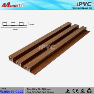 tấm nhựa iPVC W200x30 CL22