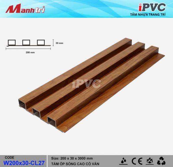 tấm nhựa iPVC W200x30-CL27