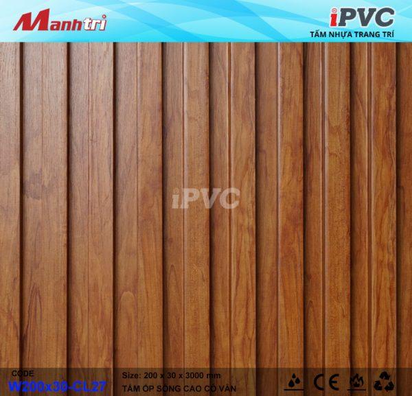 tấm nhựa iPVC W200x30-CL27-c