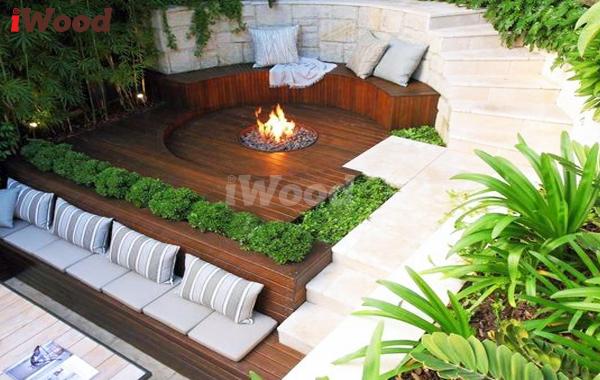 Sự tiện lợi của bàn ghế gỗ nhựa mang lại cho không gian nội thất.