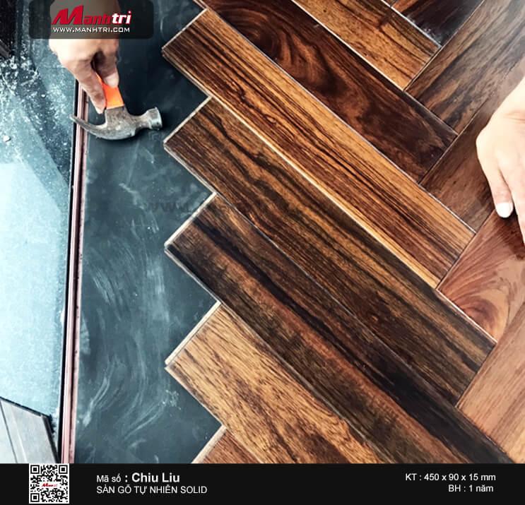 Màu sắc, đường vân đẹp và sang trọng của sàn gỗ Chiu Liu.
