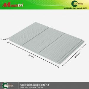Conwood ốp tường lapsiding BG12 hình 1