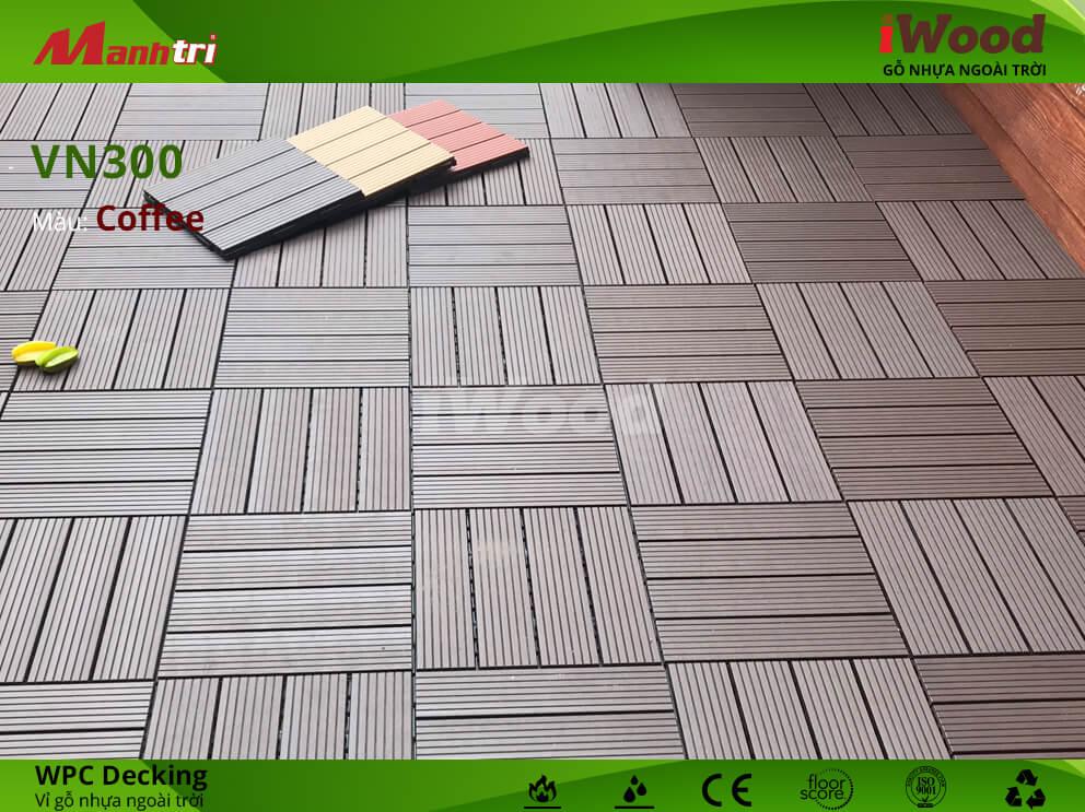 Vỉ gỗ nhựa iWood đem đến không gian ngoại thất sang trọng và hiện đại.