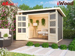Nhà gỗ nhựa xinh xắn và hiện đại.