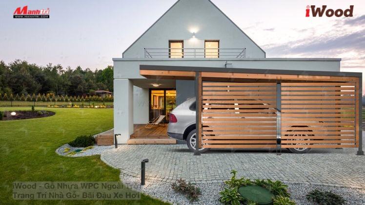 Nhà xe gỗ nhựa là một hạng mục không thể thiếu của các biệt thự, khu nghỉ dưỡng cao cấp.