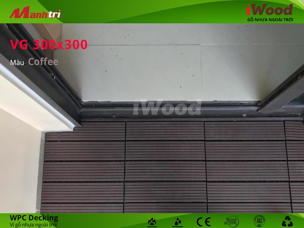 Vỉ gỗ nhựa iWood mang lại không gian sống thân thiện và trong lành.