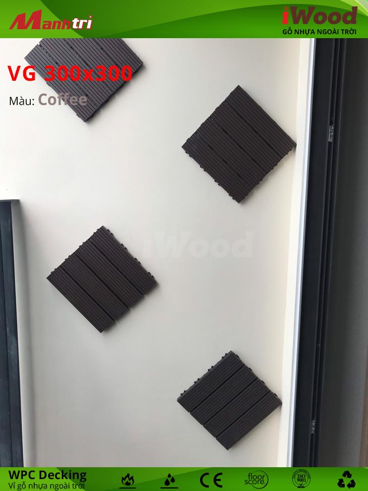 Ngoài lót sàn, iWood còn được ứng dụng trang trí ốp tường.