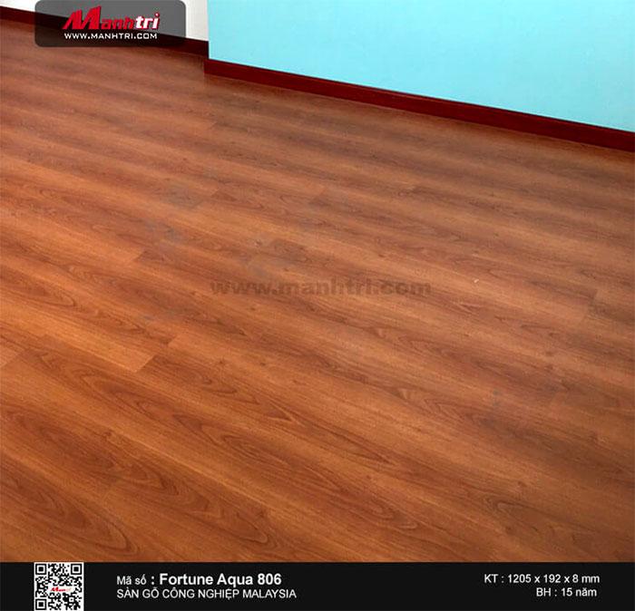Hình ảnh hoàn thiện công trình sàn gỗ Malaysia Fortune