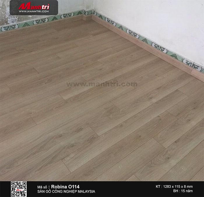 Hình ảnh hoàn thiện sàn gỗ công nghiệp Robina