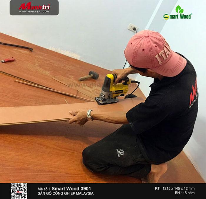 Hình ảnh thi công sàn gỗ Malysia Smartwood