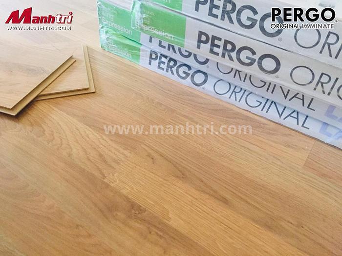 Hình ảnh thực tế sàn gỗ Pergo sau khi lắp đặt