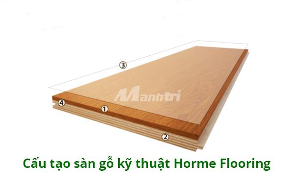 Cấu tạo sàn gỗ kỹ thuật Horme Flooring.