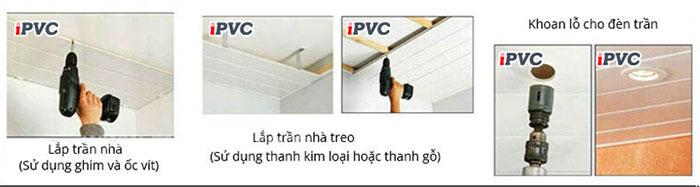Hướng dẫn lắp đặt tấm nhựa PVC trần và tường