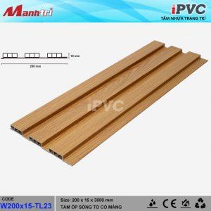 tấm nhựa iPVC W200x15 TL23